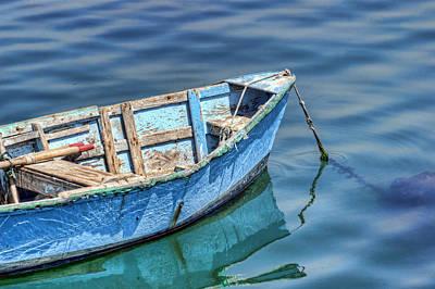 Luis Photograph - Blue Rowboat At Port San Luis #2 by Nikolyn McDonald
