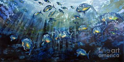 Blue Shoal Print by Dave Hancock