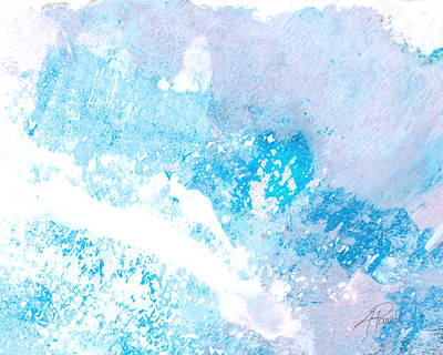 Blue Splash Print by Ann Powell