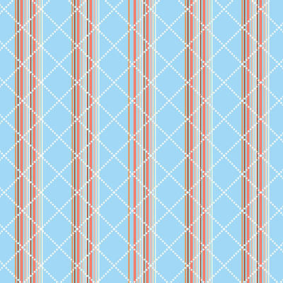 Coastal Digital Art - Blue Stripe Pattern by Christina Rollo