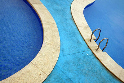 Blue Swimming Pools Print by Patrick Dinneen