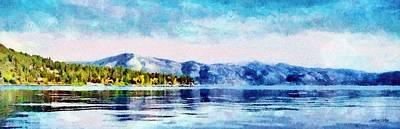 Jeff Digital Art - Blue Tahoe by Jeff Kolker