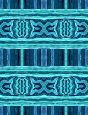 Star Burst Painting - Blue Teal Dreams by Barbara St Jean