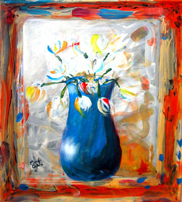 Blue Thing Print by Marcello Cicchini