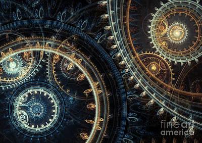 Suburban Digital Art - Blue Time by Martin Capek