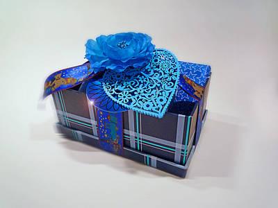 Christmas Digital Art - Blue Valentine by Charles Stuart