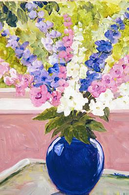 Painting - Blue Vase by Betty McGlamery