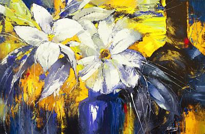 Blue Vase Print by Dmitry Spiros