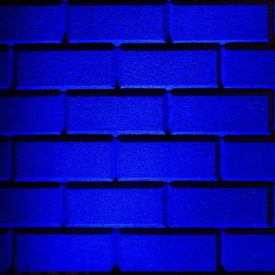 Blue Wall Print by Semmick Photo