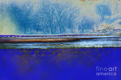 Abstract Forms Digital Art - Blue Water by Carol Lynch