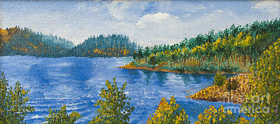 Blue Water Lake Print by Svetlana Sewell