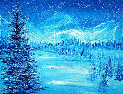 Reflection Painting - Blue Winter by Ann Marie Bone