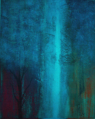 Love Park Mixed Media - Blue Winter by Yul Olaivar