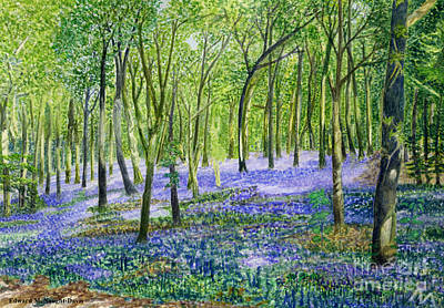 Metaphysical Painting - Bluebell Fairy by Edward McNaught-Davis