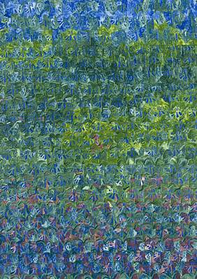 Forest Floor Painting - Bluebells by Leigh Glover