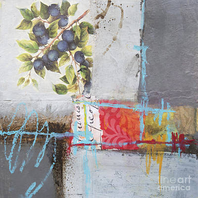 Blueberry Mixed Media - Blueberries by Elena Nosyreva