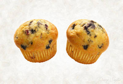 Muffins Painting - Blueberry Muffins by Danny Smythe