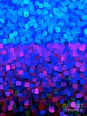 Passion Fruit Digital Art - Blueberry Passion Fruit by Saundra Myles