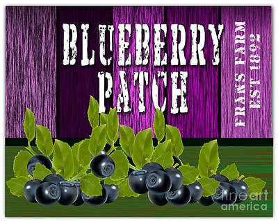 Blueberry Patch Print by Marvin Blaine