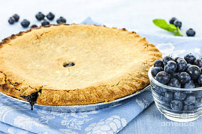 Blueberry Pie Print by Elena Elisseeva