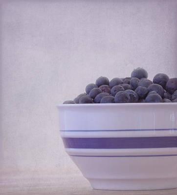 Blueberry Splash Print by Kim Hojnacki