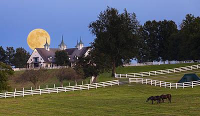 Kentucky Photograph - Bluegrass Moonrise by Alexey Stiop