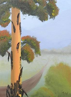 Bright Colours Painting - Bluegum by Leana De Villiers