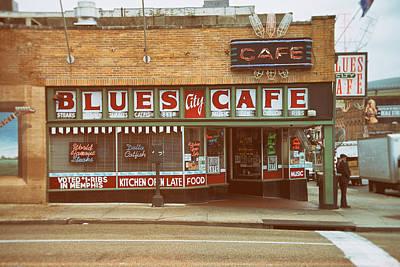 Blues City Cafe On Beale Street Memphis Print by Mary Lee Dereske