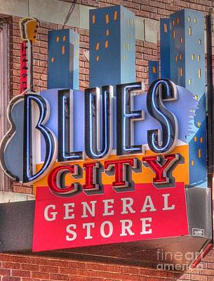Blues City Print by David Bearden