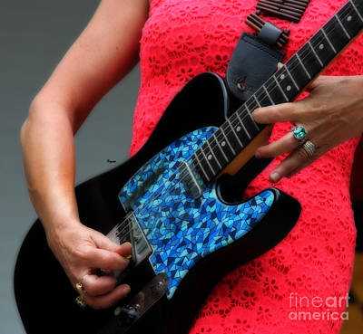 Hands Photograph - Blues In Red by Steven  Digman