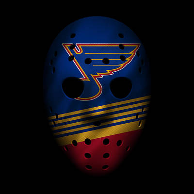 Hockey Photograph - Blues Jersey Mask by Joe Hamilton