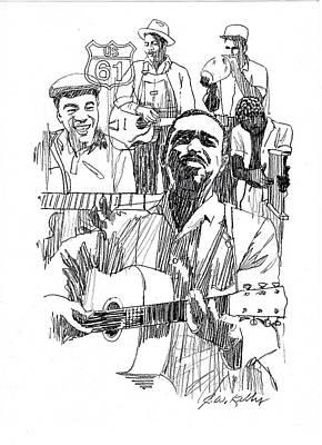 Bluesmen Print by J W Kelly