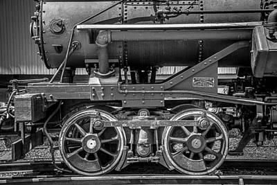 Locomotive Wheels Photograph - Bluestone Train Engine  by Garry Gay
