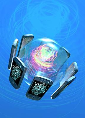 Bluetooth Conceptual Artwork Print by Victor Habbick Visions