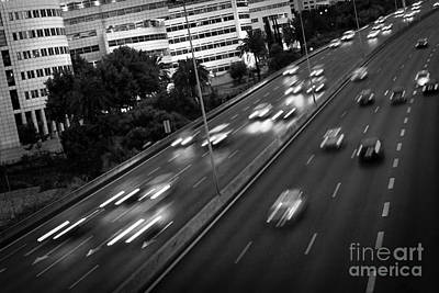 Trace Photograph - Blurred Cars by Carlos Caetano
