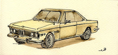 Classic Collection Painting - Bmw 3 Cs Coupe by Juan  Bosco