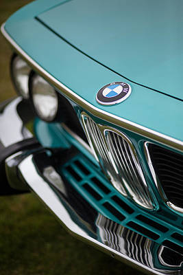 Classic Auto Photograph - Bmw 3.0 Cs Front by Mike Reid