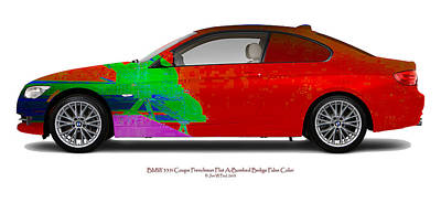 Bmw 335i Coupe Frenchman Flat Hot Colors Nts Original by Jan W Faul
