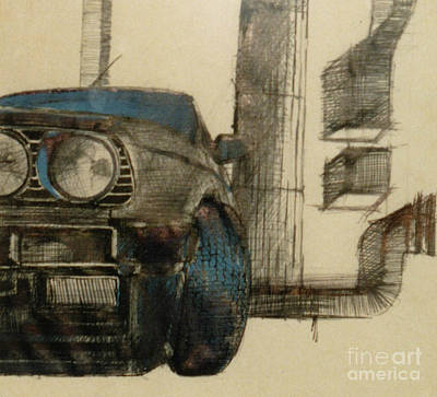 Large Painting - Bmw Car by Mirek Bialy
