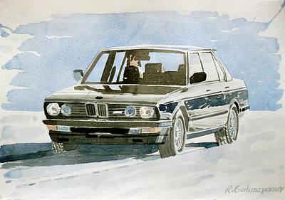 Bmw Painting - Bmw E28 by Rimzil Galimzyanov