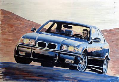 Bmw Painting - Bmw E36 M3 by Ildus Galimzyanov