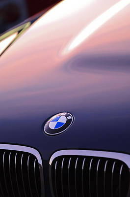 Imagery Photograph - Bmw Hood Emblem by Jill Reger