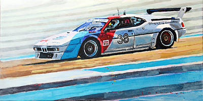 Racing Legend Painting - Bmw M1 Procar 1979 by Yuriy Shevchuk