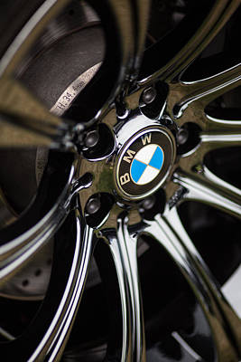 Bmw M5 Black Chrome Wheels Print by Mike Reid