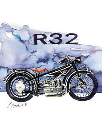 Cycle Painting - Bmw R32 by Yoshiharu Miyakawa