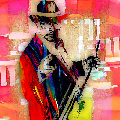 Hip Mixed Media - Bo Diddley Collection by Marvin Blaine