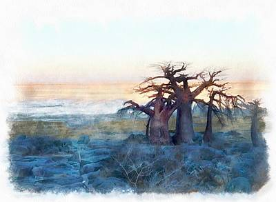 Baobab Painting - Boababs by Hoetmer Art