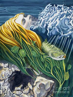 Goddess Mythology Painting - Boann Transformation Of A Goddess by Antony Galbraith