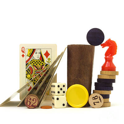 Large Group Of Objects Photograph - Board Game by Bernard Jaubert