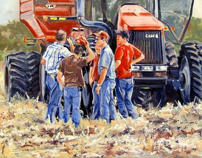 Cornfield Painting - Board Of Directors by Spencer Meagher